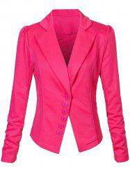 One Button Lapel Asymmetric Jacket Blazer - TUTTI FRUTTI S