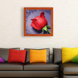 DIY Beads Painting Water Rose Cross Stitch - RED