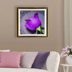 DIY Diamond Painting Water Rose Cross Stitch - PURPLE