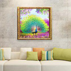 DIY Beads Painting Tail Peacock Cross Stitch