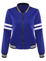 Slim Striped Baseball Jacket -