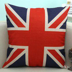 England Flag Pattern Sofa Cushion Linen Pillow Case -