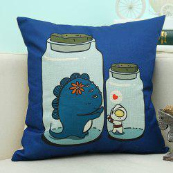 Cartoon Bottles Design Sofa Cushion Linen Pillow Case