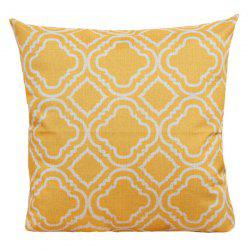 Geometry Pattern Sofa Cushion Linen Pillow Case - YELLOW