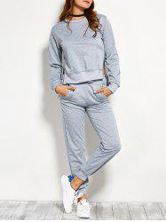 Symmetry Side Slit Pullover Sweatshirt and Pants -