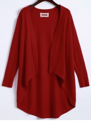 Open Front High Low Knit Cardigan -