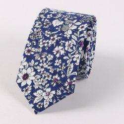 Floral Shivering Printed Neck Tie - DEEP BLUE
