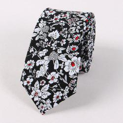 Floral Shivering Printed Neck Tie - BLACK