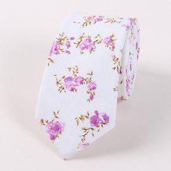 6CM Width Little Flower Printed Neck Tie - PURPLE