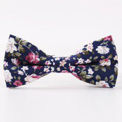 Vintage Little Floral Print Bow Tie - DEEP BLUE