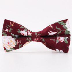 Flower Shivering Pattern Bow Tie -