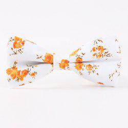 Little Flower Printed Casual Bow Tie -