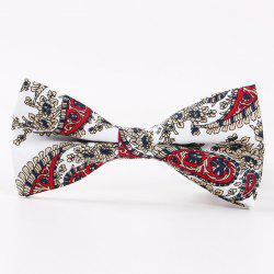 Retro Flower Printed Bow Tie -