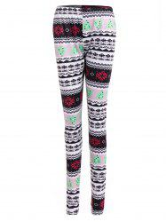 Tribal Print Geometric Christmas Skinny Leggings -
