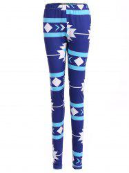 Geometric Christmas Skinny Leggings -