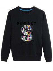 Letter S Printed Long Sleeve Sweatshirt