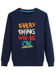 Color Block Graphic Printed Crew Neck Long Sleeve Sweatshirt -