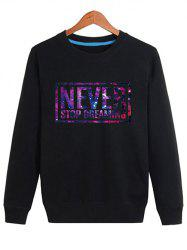 Long Sleeve Galaxy Letter Sweatshirt