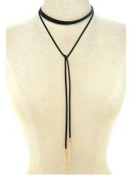 Choker Ribbon Sweater Chain - BLACK