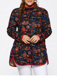 Ethnic Floral Print Top