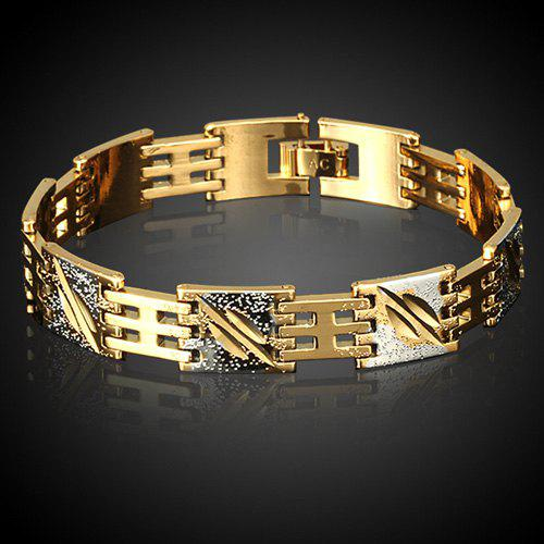 Vintage Alloy Chain BraceletJEWELRY<br><br>Color: GOLDEN; Item Type: Chain &amp; Link Bracelet; Gender: For Men; Chain Type: Link Chain; Style: Trendy; Shape/Pattern: Others; Weight: 0.060kg; Package Contents: 1 x Bracelet;