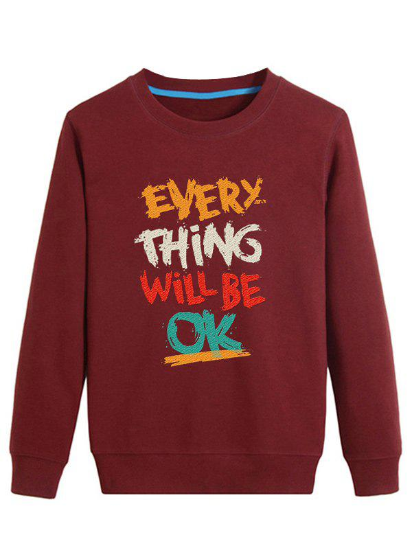 Outfit Color Block Graphic Printed Crew Neck Long Sleeve Sweatshirt