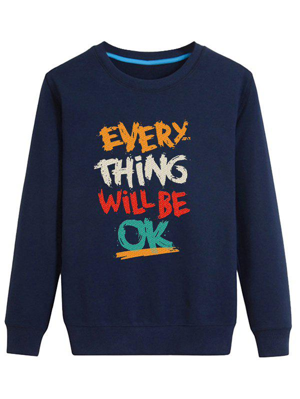 Affordable Color Block Graphic Printed Crew Neck Long Sleeve Sweatshirt