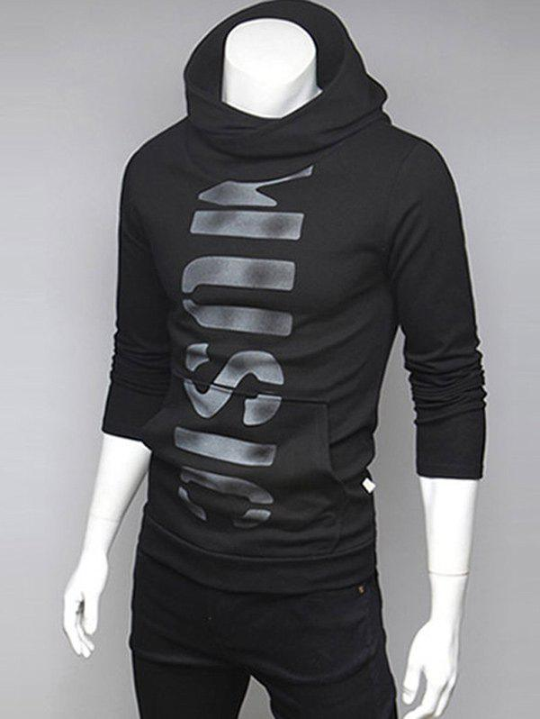 Best Pocket Front Graphic Pullover Hoodie