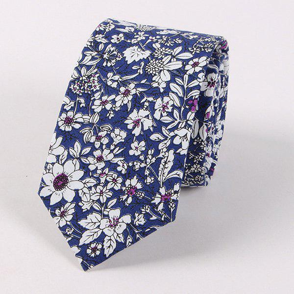 Floral Shivering Printed Neck TieACCESSORIES<br><br>Color: DEEP BLUE; Type: Neck Tie; Group: Adult; Tie Type: Neck Tie; Style: Fashion; Pattern Type: Floral; Material: Polyester; Width(CM): 6CM; Length(CM): 145CM; Weight: 0.070kg; Package Contents: 1 x Tie;