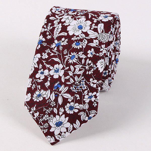 Floral Shivering Printed Neck TieACCESSORIES<br><br>Color: DARK RED; Type: Neck Tie; Group: Adult; Tie Type: Neck Tie; Style: Fashion; Pattern Type: Floral; Material: Polyester; Width(CM): 6CM; Length(CM): 145CM; Weight: 0.070kg; Package Contents: 1 x Tie;
