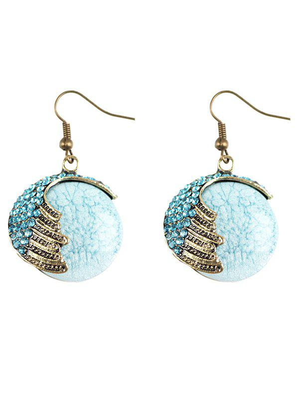 Outfit Rhinestone Natural Stone Drop Earrings