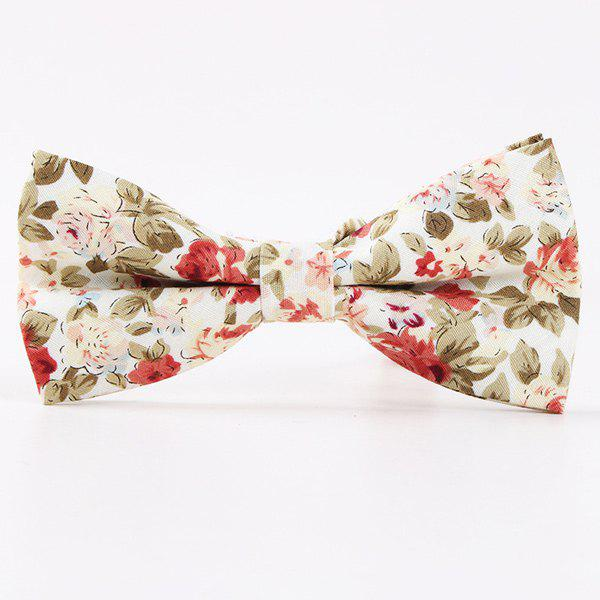 Vintage Little Floral Print Bow TieACCESSORIES<br><br>Color: WHITE; Type: Bow Tie; Group: Adult; Style: Vintage; Pattern Type: Floral; Material: Polyester; Weight: 0.035kg; Package Contents: 1 x Tie;
