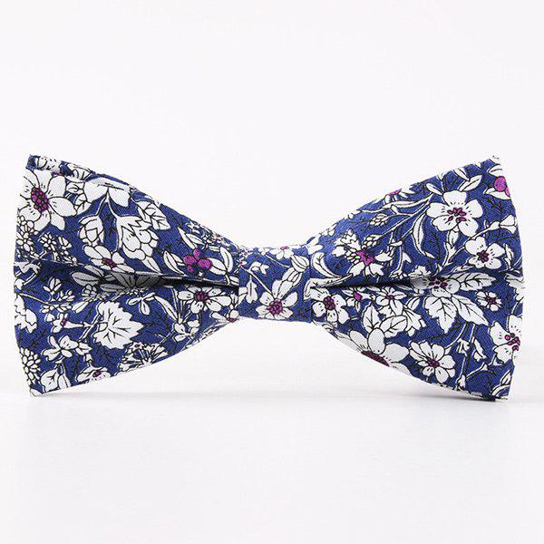 Bridegroom Floral Shivering Printed Bow TieACCESSORIES<br><br>Color: BLUE; Type: Bow Tie; Group: Adult; Style: Vintage; Pattern Type: Floral; Material: Polyester; Weight: 0.035kg; Package Contents: 1 x Tie;