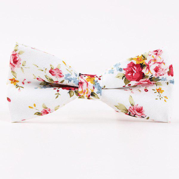 Little Flower Printed Casual Bow TieACCESSORIES<br><br>Color: RED; Type: Bow Tie; Group: Adult; Style: Fashion; Pattern Type: Floral; Material: Polyester; Weight: 0.024kg; Package Contents: 1 x Tie;