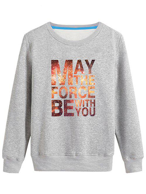 Outfits Long Sleeves Graphic Sweatshirt