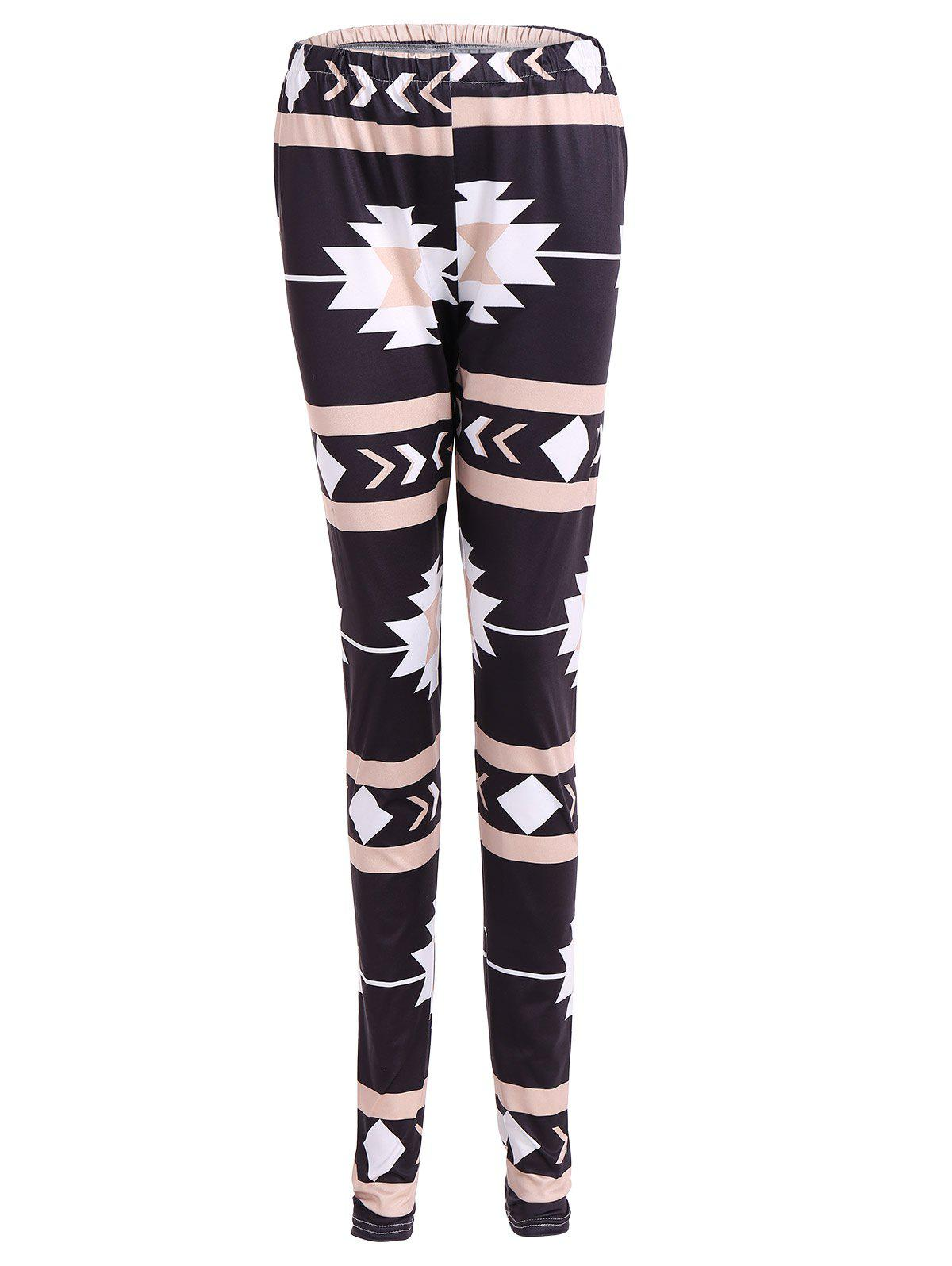 Discount Geometric Christmas Skinny Leggings