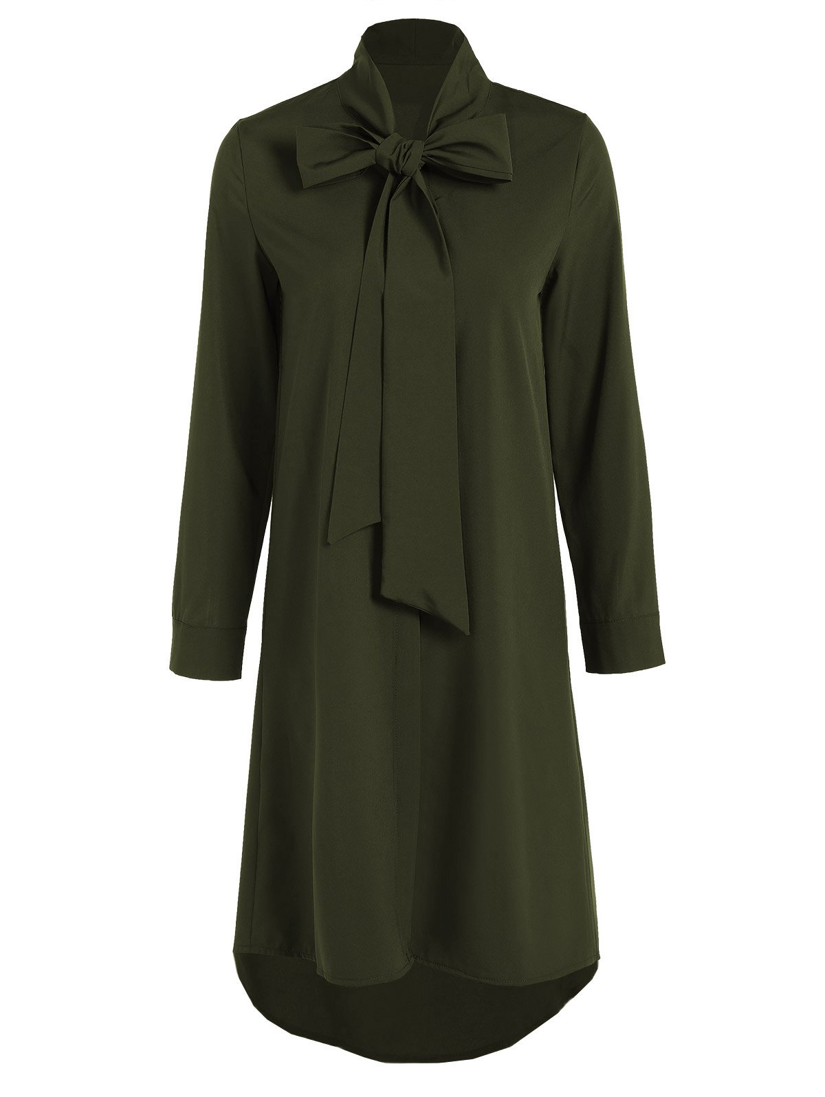 Shops Pussy Bow Tied Neck Shirt Dress