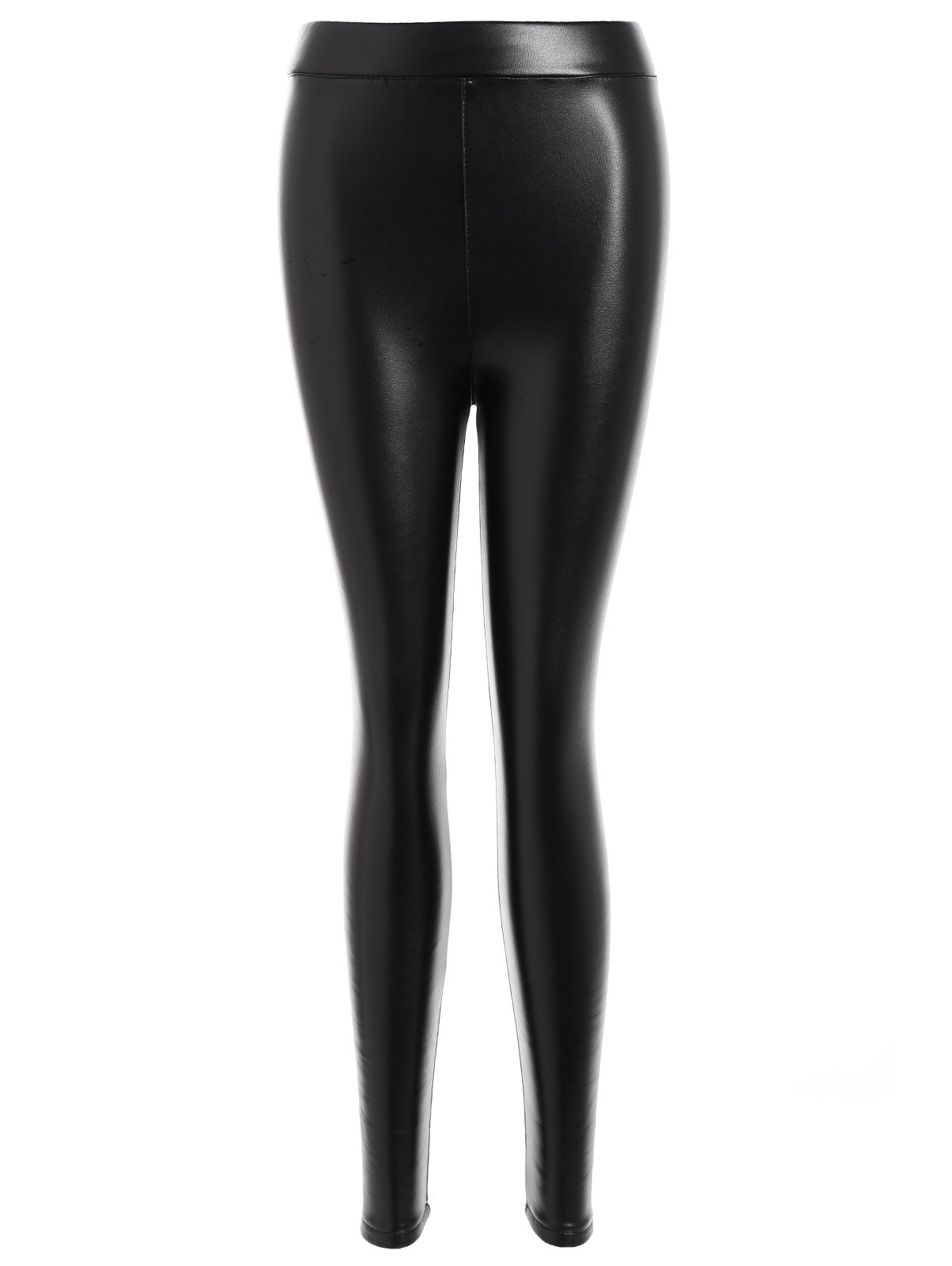 Trendy Faux Leather Thicken Leggings