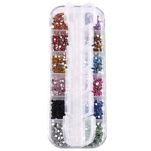 12 Colours Decoration Nail Art Rhinestones - Colormix - Eu Plug
