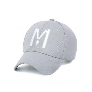 Embroidery Letter M Baseball Cap