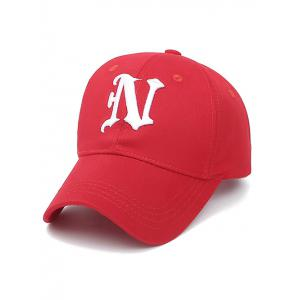 Embroidery Letter N Baseball Cap - Red