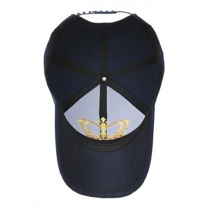 Crown Embroidery Baseball Cap -
