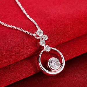 Rhinestone Bubble Necklace -
