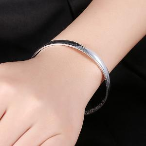 Polished Adjustable Bracelet - SILVER