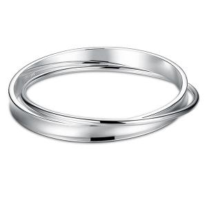 Polished Overlap Bracelet