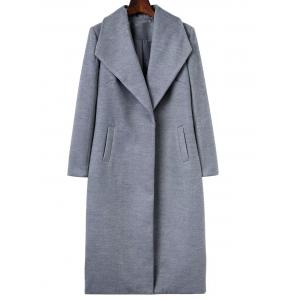 Long Wool Maxi Coat with Lapel