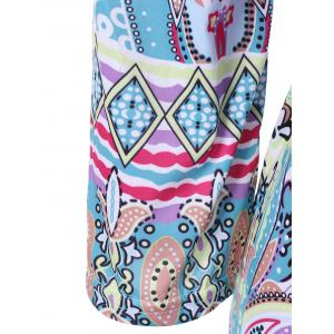 Colorful Patterned Bohemian Dress - COLORMIX XL