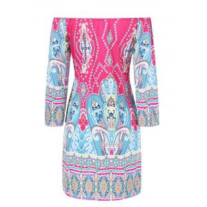 Colorful Patterned Bohemian Dress -