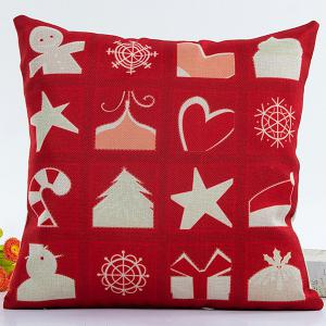 Merry Christmas Pillow Case - Red - 43*43cm