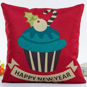 Cartoon Christmas Cake Pillow Case